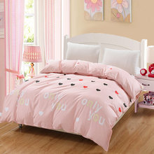 Hot sell fresh fashionUSA Russian pink love series bedding duvet girl/adult home ornament quilt cover king queen full twin size(China)