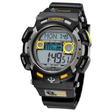 PASNEW Men's Students Digital Sports Multifunction Wrist Watch Outdoor Military Water Resistant Alarm Stop Watch 1002D