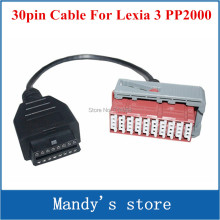 High quality OBD 2 Connector lexia 3 PSA PP2000 lexia 30pin Car Connector Adapter Cable