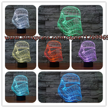 Fashion Novelty 3D Super Cool Star Wars Storm Knight 3D light colorful gradient LED nightlight personalized child toy gift lamp