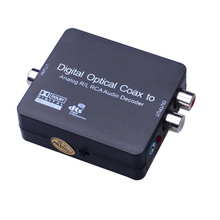 High Quality Digital Optical Coax to Analog R/L RCA Audio Decoder For Converting Coaxial Signal To Analog L/R Converter Adapter