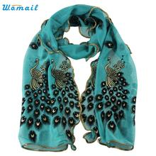 Amazing Fashion Women's handmade lace peacock scarves Chiffon Scarf Long Soft Wrap Shawl Gift