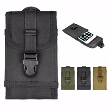 For Multi Phone Model Hook Loop Belt Pouch Bag MOLLE Tactical Smartphone Pouch Holster for iPhone 7 4.7 For iPhone 7 Plus 5.5""