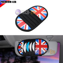 1x Union Jack CD DVD Holder Disc Disk Storage Sun Visor Clip Bag for Mini Cooper