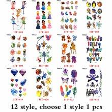Special offer 3d tattoo women sex products Comic pirates pattern Temporary Tattoo body art flash tattoos(China)