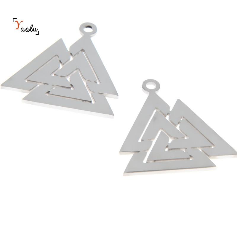 60pcs--Triangle Charms silver Mini Triangle Charm Pendants jewelry  13X13mm