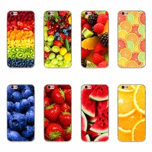 Delicious Watermelon Strawberry Orange Strawberry Fruit Food Patterns Soft Silicone TPU Cases For iPhone 6 6s 5 5s SE 7 Covers
