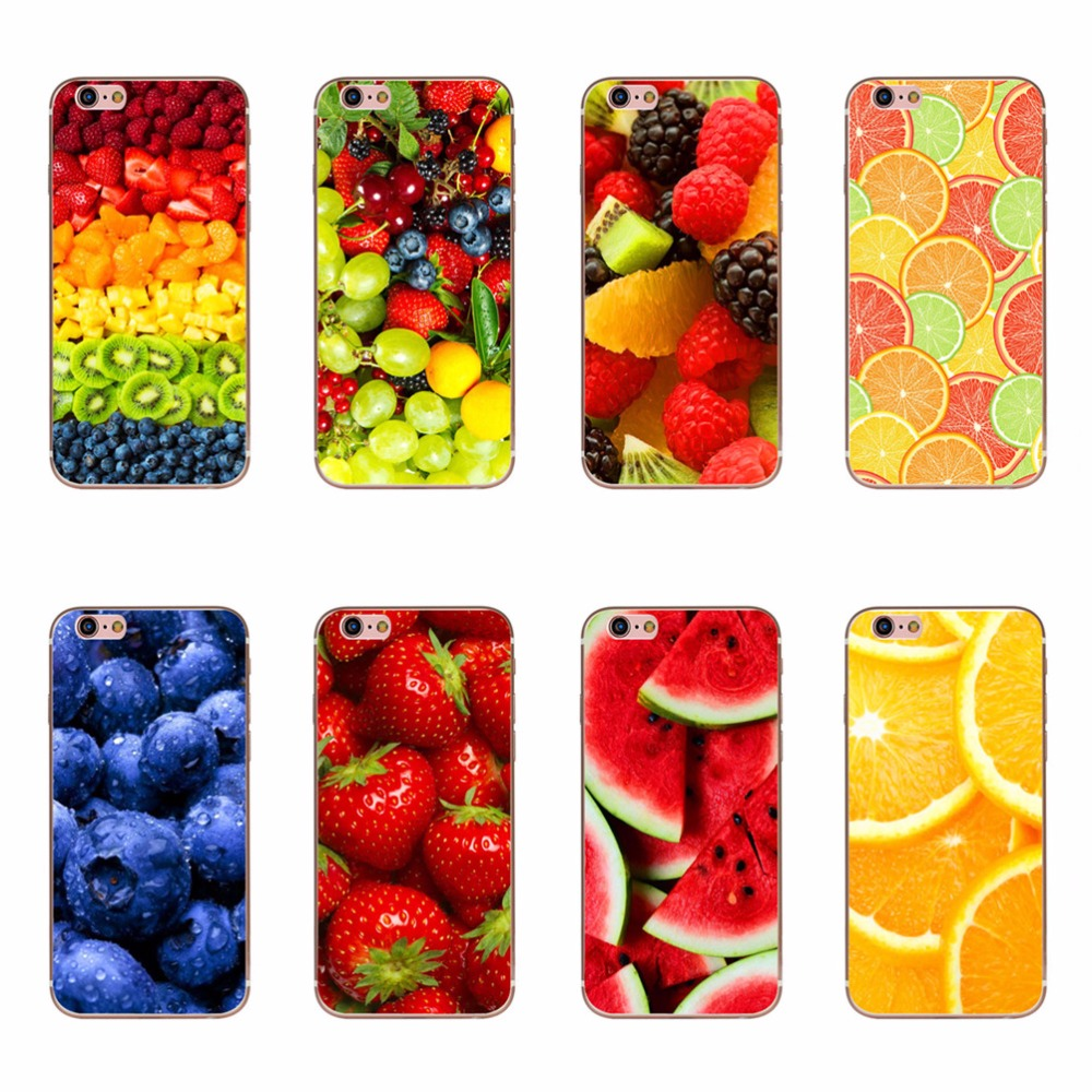 Delicious Watermelon Strawberry Orange Strawberry Fruit Food Patterns Soft Silicone TPU Cases For iPhone 6 6s 5 5s SE 7 Covers(China (Mainland))