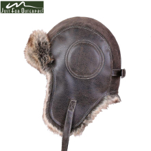 2017 New Winter Artificial Leather Hats Casual Men Women Windproof Warm Bomber Hats Motorcycle Flight Ear Protection Cap Hi-Q