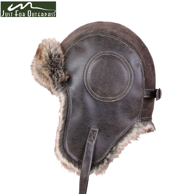 2017 New Winter Artificial Leather Hats Casual Men Women Windproof Warm Bomber Hats Motorcycle Flight Ear Protection Cap Hi-Q(China)