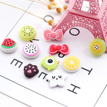 1Pcs Multi Functional Creative Fridge Magnet Refrigerator Fruit Decorative Silicone 2x2cm Home Decor Sticker For Kids F2450(China)