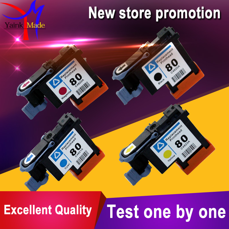 1 Set 4 colors remanufactured for HP 80 printer head C4820A C4821A C4822A C4823A for HP 80 print head<br>