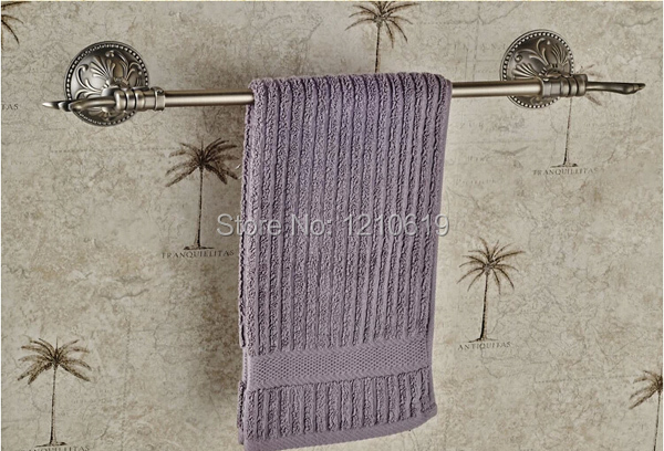 Vintage Antique Brass Bathroom Towel Bar Towel Rack Holder Single Bar Euro Style Wall Mounted<br><br>Aliexpress