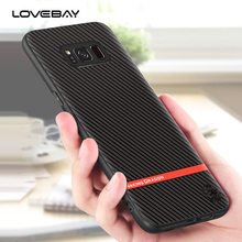 Lovebay For Samsung S8 S8 Plus Phone Cases Fashion Zebra Stripes Lines Design TPU Carbon Fiber Cover Back Case For Samsung S8(China)