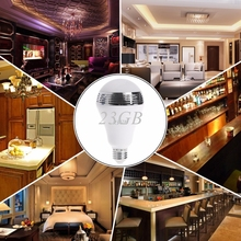 LED RGB Light Music Bulb E27 App Control Bluetooth Audio Speaker Changing Color JUN28_25(China)