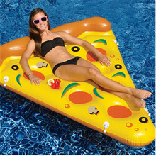 1pcs Swimming Inflatable Mattress Giant Pizza Slice Floating Bed Raft Water Pool Float Fun Toys For Summer Party Swimming Ring(China)
