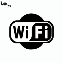 Wifi Logo Business Decoration Wall Sticker Shop Window Internet WIFI Vinyl Wall Decal(China)