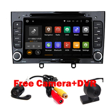 Glossy Black Piano 2din Android 7.1 Car DVD GPS For Peugeot 408 308 308SW with Wifi 3G BT Radio Stereo USB SD Free Camera+DVR