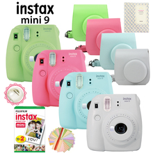 2017 New Fujifilm Instax Mini 9 Instant Film Camera + 20 Shots Mini 8 White Films Photos + PU Case + Free Album & Pen & Stickers(Hong Kong,China)