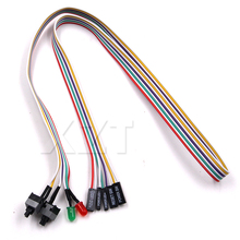 "AT High Quality Hot PC Case Red Green LED Lamp ATX Power Supply Reset HDD Switch Lead 20""for PC Motherboard cable(China)"