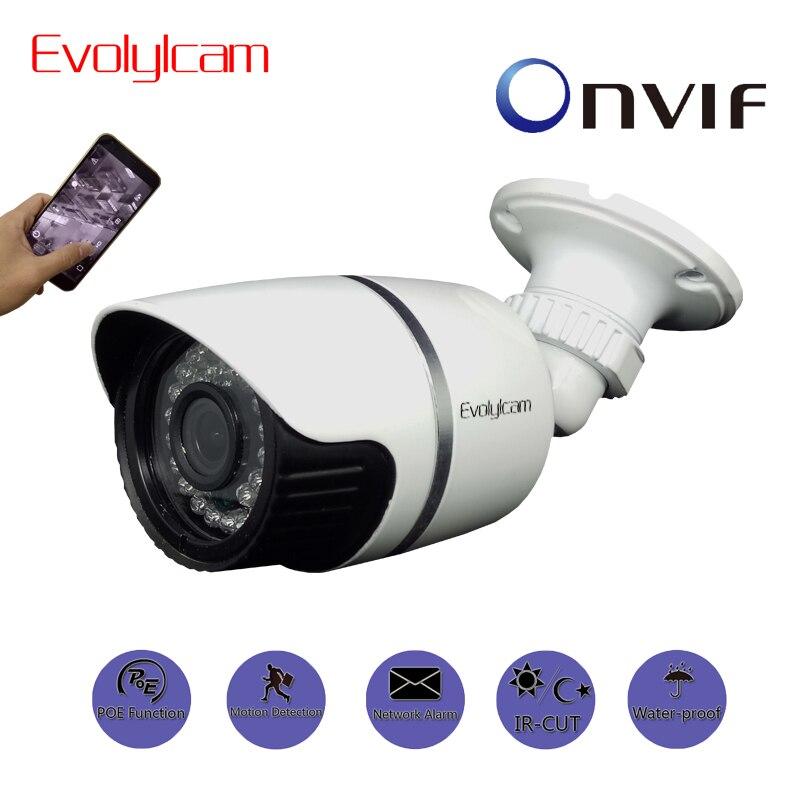 Evolylcam POE 720P 1MP/ 960P 1.3MP/ 1080P 2MP HD IP Camera P2P Onvif CCTV Camera Network Alarm IR Outdoor Surveillance Bullet <br>