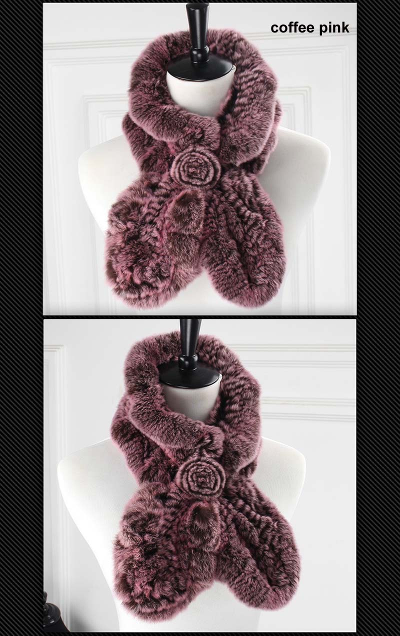 rex wavy scarf coffee pink