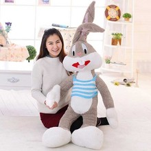 Super Kawaii Cute Lovely Bunny Rabbit Plush Toys Bugs Bunny Stuffed Toys Baby Toy Birthday Gift Childs Gift(China)
