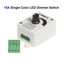 10pcs 12V 16A Single Color LED Dimmer Switch Controller For SMD 3528 5050 5730 Single Color LED Rigid Strip