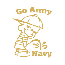 Tancredy 6*7.57inch Funny go army beat navy Car Decals Window Laptop Stickers(China)