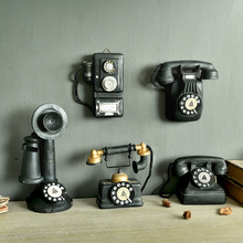 Antique Imitation Resin Telephone Model Creative appareil Cabochon Photo Props Home Decoration Crafts Gifts(China)