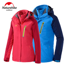NH High Quality Lovers Outdoor Sports Wind Break Jacket Windproof Thermal Waterproof Antistatic Triad Ski-Wear For Outing Skiing(China)