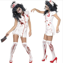 Sexy Lady Halloween Scary Bloody Mary Nurse Costumes Nurse Cosplay Dress Halloween Theme Party Zombie Nurse Devil Ghost Costumes(China)