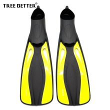 TREE BETTER Swimming fins Training Diving fins Silicone soft Snorkeling Flipper long Foot Submersible Frog shoes Yellow XS XL(China)
