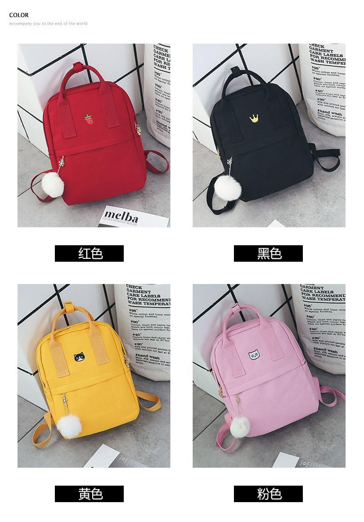 ba8bc02fe542 Women Backpack For School Teenagers Girls Vintage Stylish School Bag ...