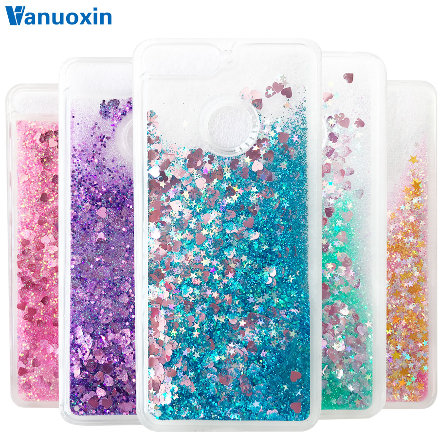 Y6(2018) case sFor Fundas Huawei Y6 2018 case coque Huawei Y6 Prime 2018 case cover Liquid Glitter Dynamic Soft TPU phone cases(China)