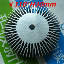 LED heatsink ,Diameter :110mm  H:30mm,aluminum heatsink , LED cooler  ,LED radiator