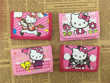 10PCS Hello Kitty Party favor cartoon wallet Kids happy birthday party supply gift  for girl boy baby shower souvenirs baptism