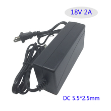 18V 2A AC DC adapter Converter Adapter Charger  LED monitor  18V 2000ma Switching Power Supply Table Type EU/US Plug