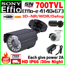 2A Power Gift! Mini Metal HD Cctv Camera 1/3ccd Sony Effie 4140+673 700TVL waterproof IP66 Security Surveillance products Video