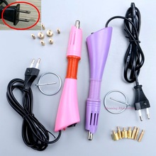 Fast Heated! Hotfix Rhinestone Applicator Purple / Pink Choice hot fix Applicator Iron-on Wand Heat-fix Tool No Rhinestones