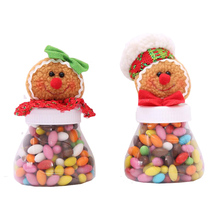 1pcs/lot Gingerbread Man Candy Jar Sugar Bowl Christmas Kids Gift Ornaments Toy Sweet Storage Container for Home Decor SD359