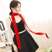 "DoreenBow Fashion Chiffon Scarves & Wraps Tie Red Woman Gift Spring 200cm(78 6/8"") x 5cm(2""), 1 Piece(China)"