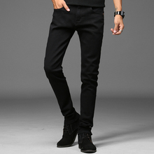 Men's Fashion Jeans Black Male Casual Straight Denim Jeans New Arrival Men's Brand Jeans(China)