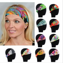 NEW fashion Fitness headband sport Headbands Women wide head wrap various gorgeous pattern(China)