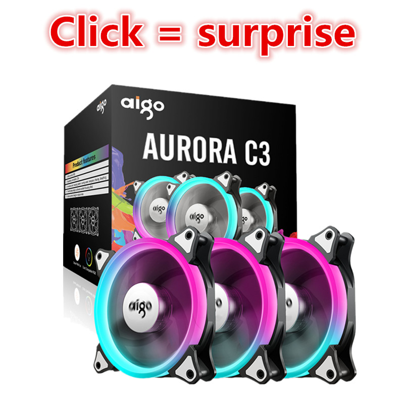 Aigo C3 120mm rainbow lights Colorful RGB Adjustab...