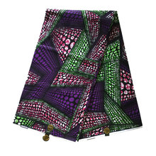 African Wax Print Fabric Java Wax Print Fabric Ghana Style Top Class Purple Batik Tissus