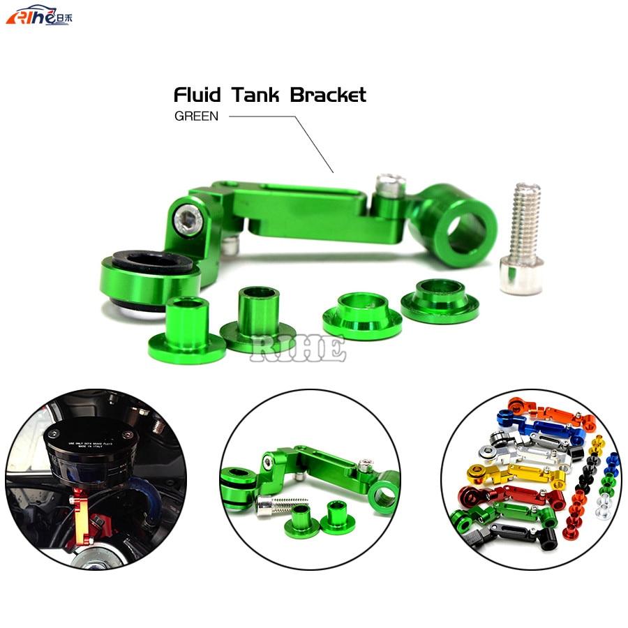 Universal motorcycle CNC Brake clutch pump fluid reservoir tank bracket for Kawasaki Z750 Z800 Z1000 Z1000SX ER6N VERSYS 1000<br><br>Aliexpress