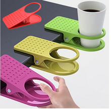 High Quality Home Office Desk Table Clip Drink Cup Cans Coffee Mug Holder Folder