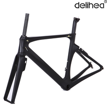 FULL Carbon Bicycle Frame Road Bike T1000 Road Frame XXS/XS/S/M/L size PF30 carbon frame, welcome customized painting