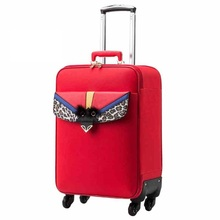 Pu Leather suitcase Trolley case Female boarding box  Korean password box female models suitcase male
